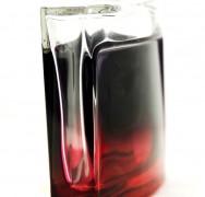 Laquage partiel rouge et noir
