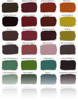 nuanciers de couleurs laquage